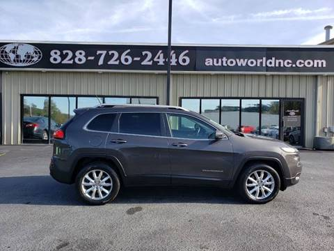 2014 Jeep Cherokee for sale at AutoWorld of Lenoir in Lenoir NC