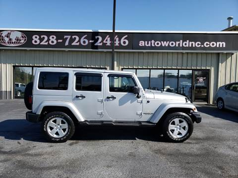 2012 Jeep Wrangler Unlimited for sale at AutoWorld of Lenoir in Lenoir NC