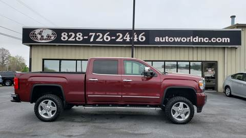 2015 GMC Sierra 2500HD for sale at AutoWorld of Lenoir in Lenoir NC