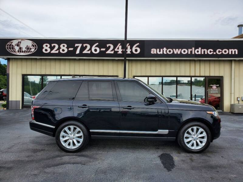 2016 Land Rover Range Rover for sale at AutoWorld of Lenoir in Lenoir NC