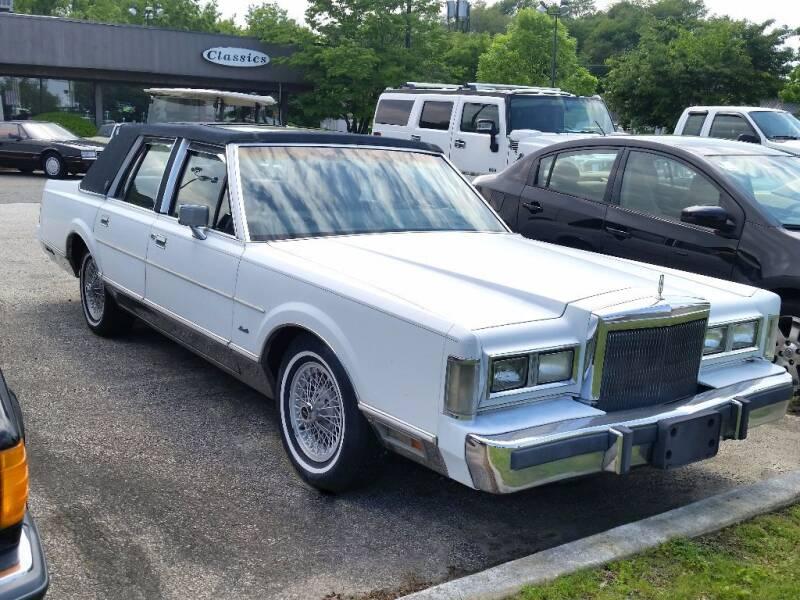 1988 Lincoln Town Car for sale at Black Tie Classics in Stratford NJ
