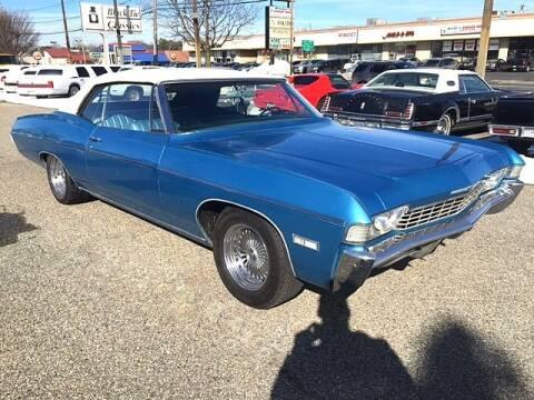 1968 Chevrolet Impala for sale at Black Tie Classics in Stratford NJ