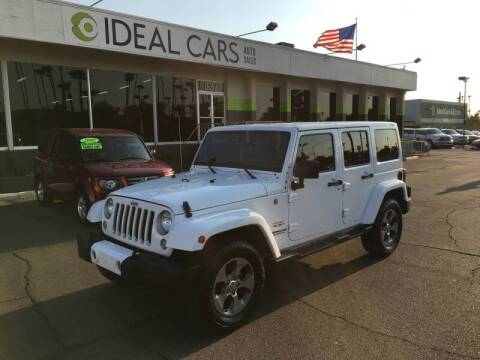 2016 Jeep Wrangler Unlimited for sale at Ideal Cars Broadway in Mesa AZ