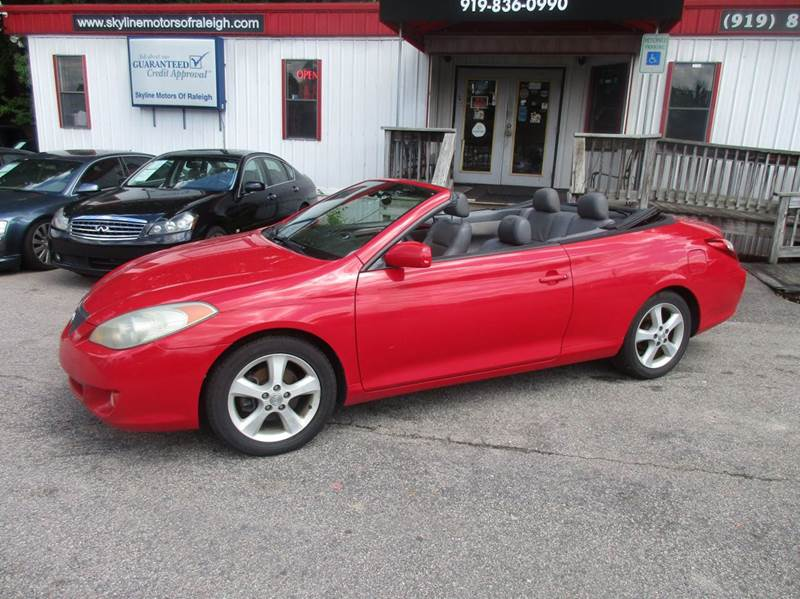 2004 toyota camry solara sle v6 2dr convertible in raleigh for Skyline motors raleigh nc