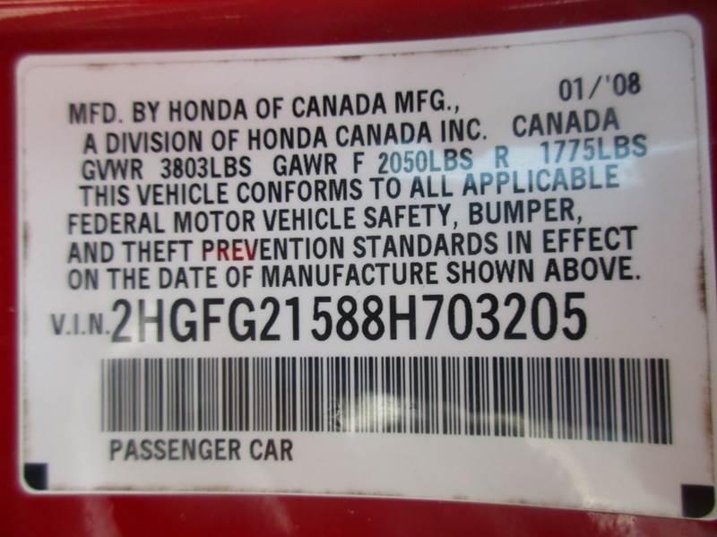 2008 Honda Civic Si 2dr Coupe - Raleigh NC