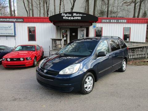 Used 2004 toyota sienna for sale in north carolina for Skyline motors raleigh nc