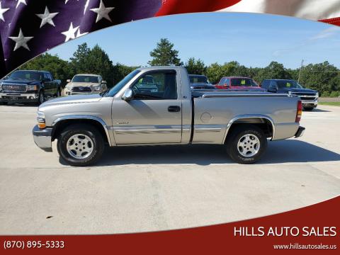 2002 Chevrolet Silverado 1500 for sale at Hills Auto Sales in Salem AR