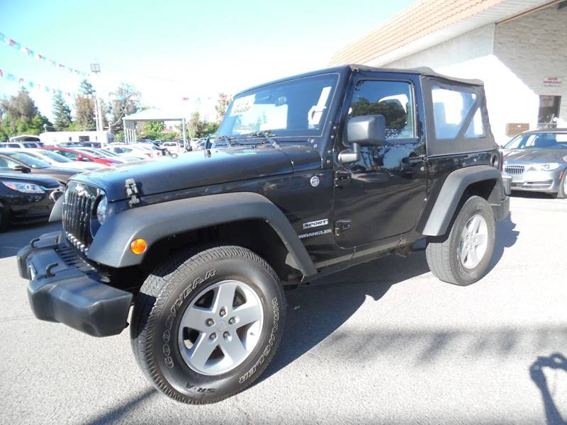 2015 JEEP WRANGLER SPORT 4X4 2DR SUV black need financing we can help call now call today cal