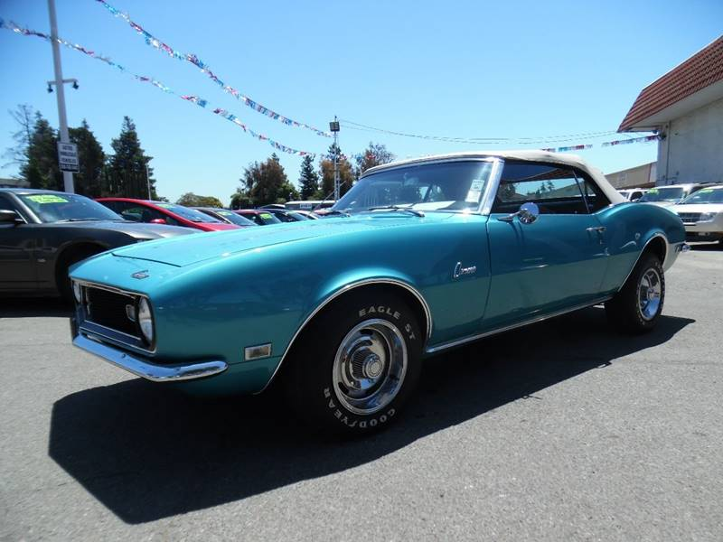 1968 CHEVROLET CAMARO aqua blue need financing we can help call now call today call the offic