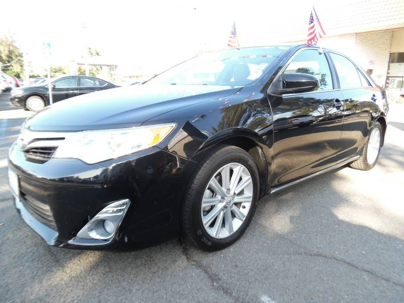 2012 TOYOTA CAMRY XLE V6 4DR SEDAN black need financing we can help call now call today call