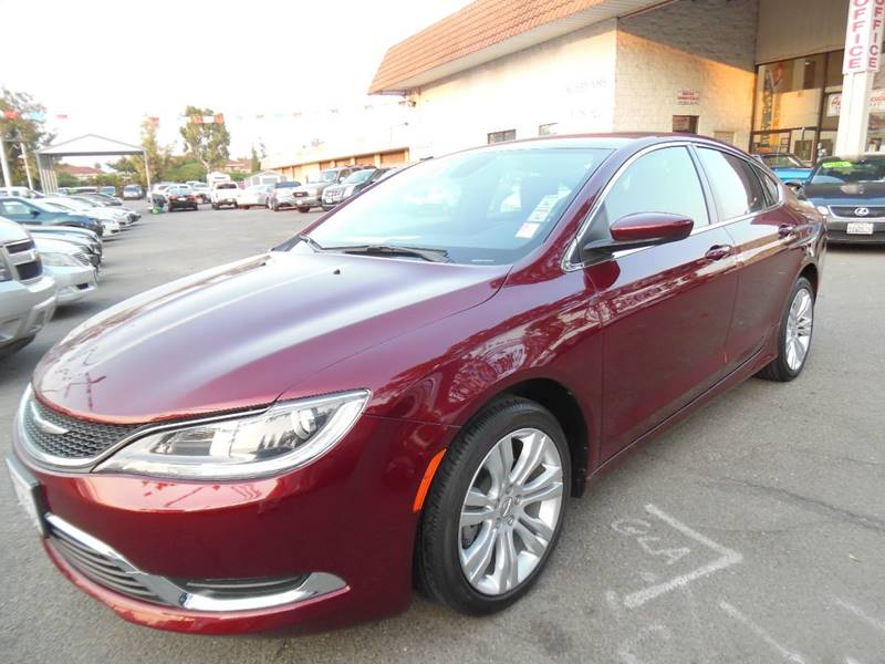 2015 CHRYSLER 200 LIMITED 4DR SEDAN red need financing we can help call now call today call t