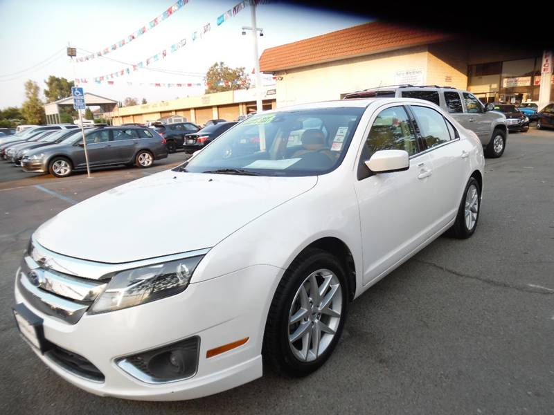 2012 FORD FUSION SEL 4DR SEDAN white need financing we can help call now call today call the