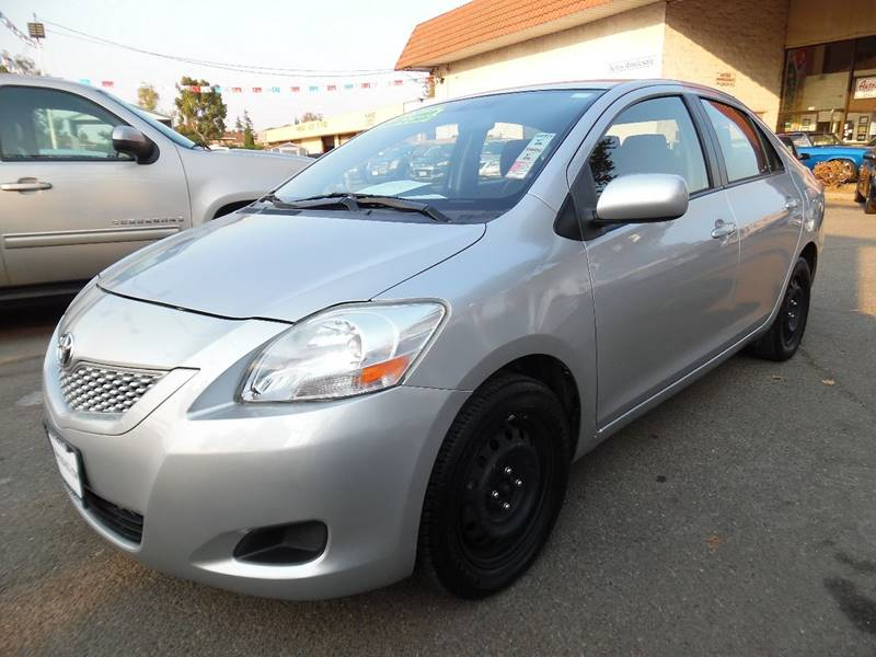 2012 TOYOTA YARIS FLEET 4DR SEDAN 4A silver need financing we can help call now call today ca