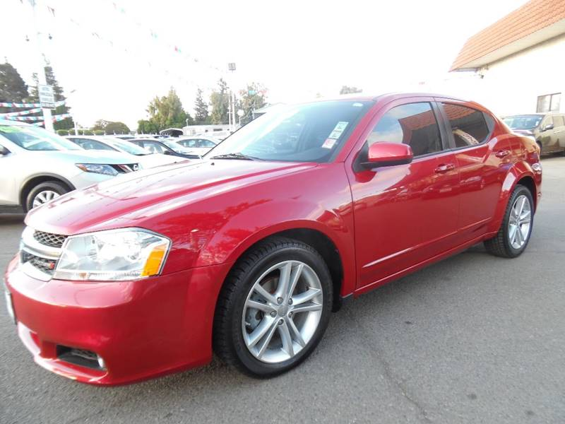 2012 DODGE AVENGER SXT PLUS 4DR SEDAN red need financing we can help call now call today call