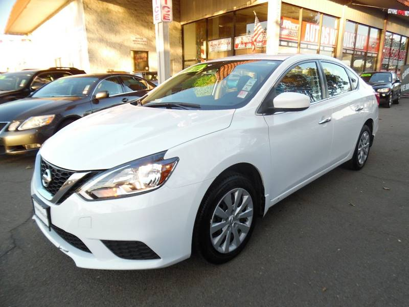 2016 NISSAN SENTRA SV 4DR SEDAN white need financing we can help call now call today call the