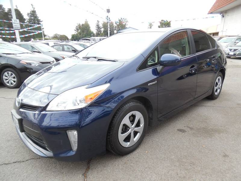2014 TOYOTA PRIUS THREE 4DR HATCHBACK blue need financing we can help call now call today cal