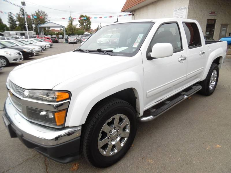 2012 CHEVROLET COLORADO LT 4X2 4DR CREW CAB W2LT white need financing we can help call now ca