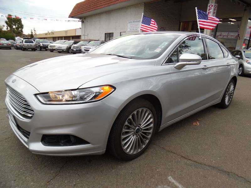 2016 FORD FUSION TITANIUM 4DR SEDAN silver need financing we can help call now call today cal