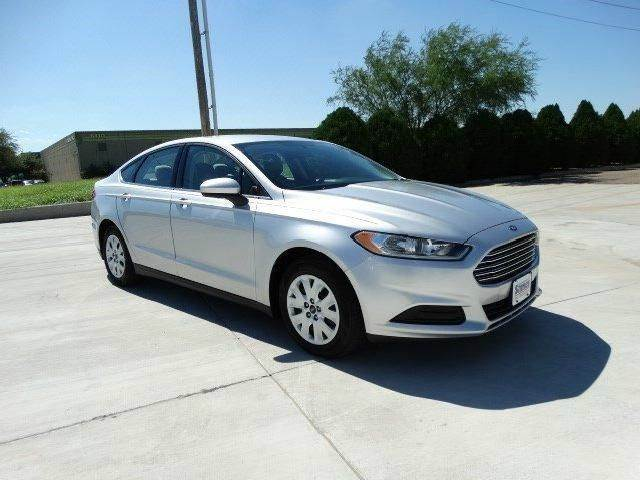 2014 FORD FUSION S 4DR SEDAN silver need financing we can help call now  call today  call the
