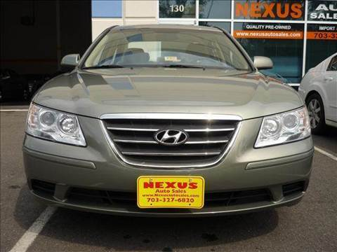 2009 Hyundai Sonata for sale at Nexus Auto Sales in Chantilly VA
