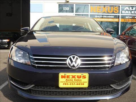 2012 Volkswagen Passat for sale at Nexus Auto Sales in Chantilly VA