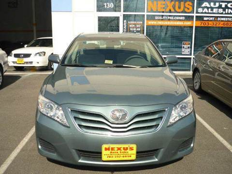 2011 Toyota Camry for sale at Nexus Auto Sales in Chantilly VA