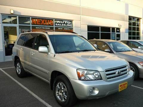 2005 Toyota Highlander for sale at Nexus Auto Sales in Chantilly VA