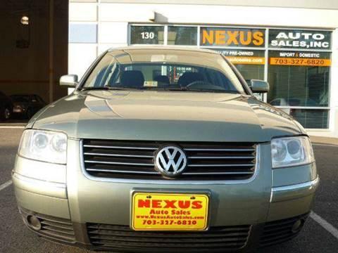 2003 Volkswagen Passat for sale at Nexus Auto Sales in Chantilly VA