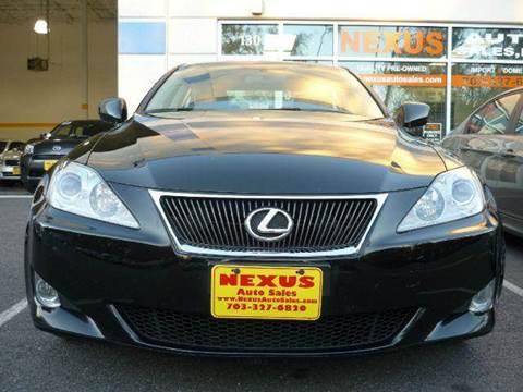 2008 Lexus IS 250 for sale at Nexus Auto Sales in Chantilly VA
