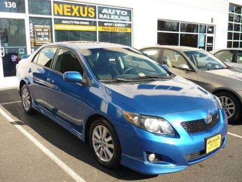 2009 Toyota Corolla for sale at Nexus Auto Sales in Chantilly VA