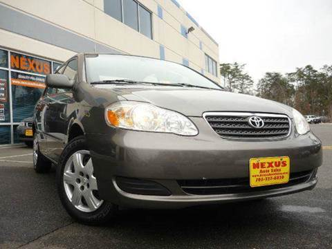 2008 Toyota Corolla for sale at Nexus Auto Sales in Chantilly VA