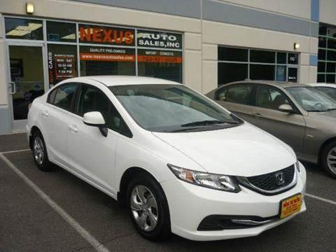 2013 Honda Civic for sale at Nexus Auto Sales in Chantilly VA