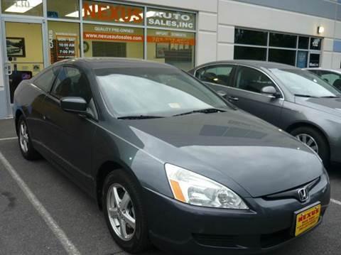 2003 Honda Accord for sale at Nexus Auto Sales in Chantilly VA