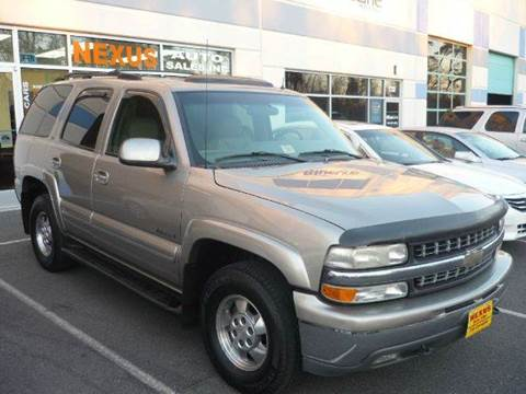 2002 Chevrolet Tahoe for sale at Nexus Auto Sales in Chantilly VA