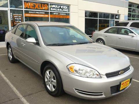 2007 Chevrolet Impala for sale at Nexus Auto Sales in Chantilly VA