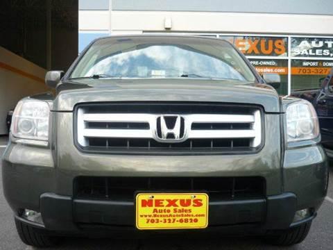 2006 Honda Pilot for sale at Nexus Auto Sales in Chantilly VA