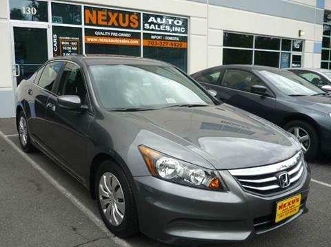2012 Honda Accord for sale at Nexus Auto Sales in Chantilly VA