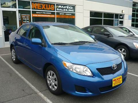 2010 Toyota Corolla for sale at Nexus Auto Sales in Chantilly VA