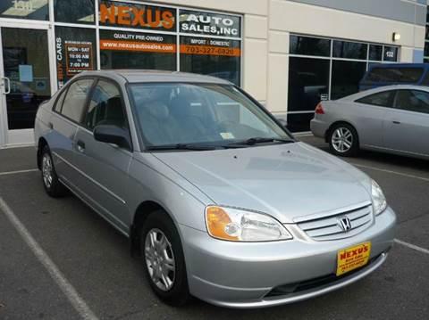 2001 Honda Civic for sale at Nexus Auto Sales in Chantilly VA