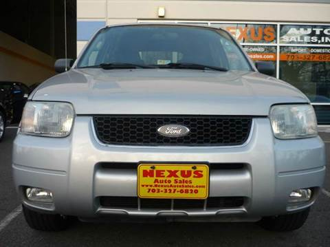 2003 Ford Escape for sale at Nexus Auto Sales in Chantilly VA