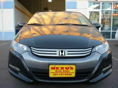 2010 Honda Insight for sale at Nexus Auto Sales in Chantilly VA