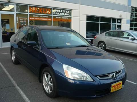 2004 Honda Accord for sale at Nexus Auto Sales in Chantilly VA
