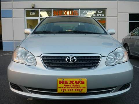 2006 Toyota Corolla for sale at Nexus Auto Sales in Chantilly VA