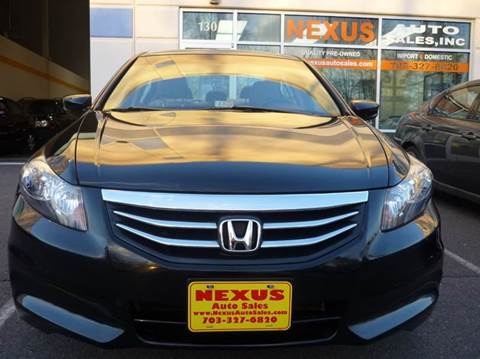 2012 Honda Accord for sale at Nexus Auto Sales in Chantilly VA