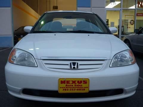 2003 Honda Civic for sale at Nexus Auto Sales in Chantilly VA