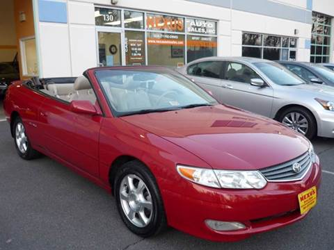 2003 Toyota Camry Solara for sale at Nexus Auto Sales in Chantilly VA