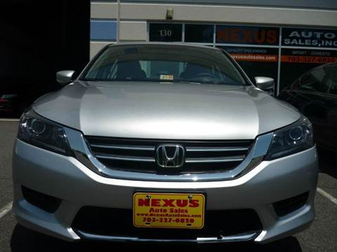 2013 Honda Accord for sale at Nexus Auto Sales in Chantilly VA