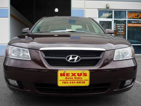 2006 Hyundai Sonata for sale at Nexus Auto Sales in Chantilly VA
