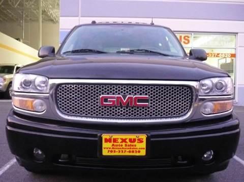 2004 GMC Yukon for sale at Nexus Auto Sales in Chantilly VA