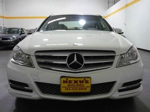 2013 Mercedes-Benz C-Class for sale at Nexus Auto Sales in Chantilly VA